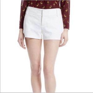 Alice + Olivia . Classic Cady Cuffed Shorts . 0